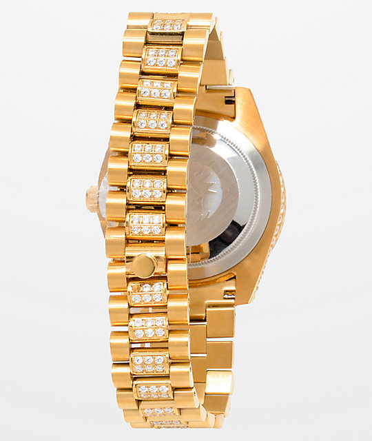 King Ice LX 14k Gold Watch
