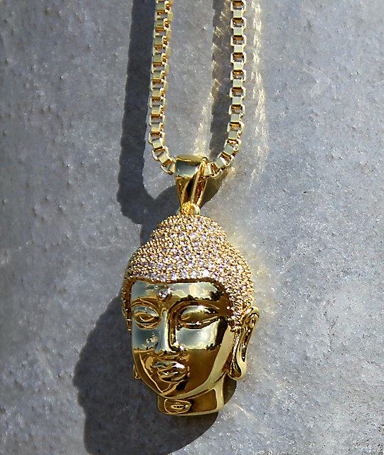 King ice mini buddha head gold necklace zumiez king ice mini buddha head gold necklace mozeypictures Gallery