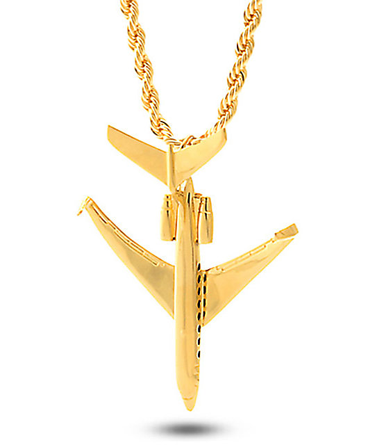 King ice private jet gold necklace zumiez king ice private jet gold necklace aloadofball Image collections