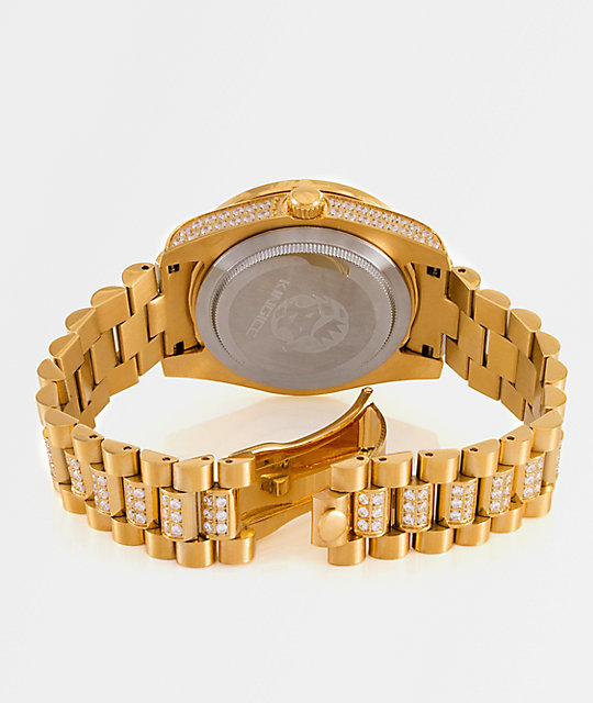 King Ice Royal Cz 14k Gold Watch Zumiez
