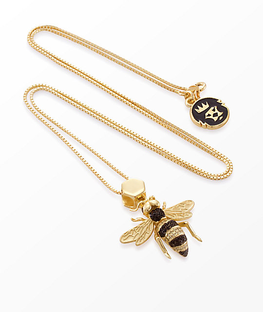 King Ice The Bee Necklace