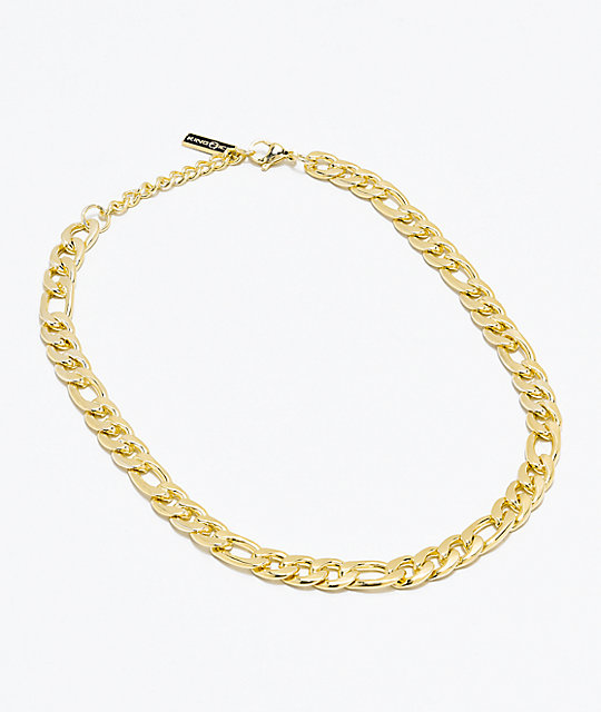 59eee29879bba King Ice Women's Figaro Gold Chain Necklace
