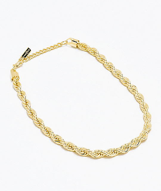 King Ice Women's Gold Rope Chain Necklace