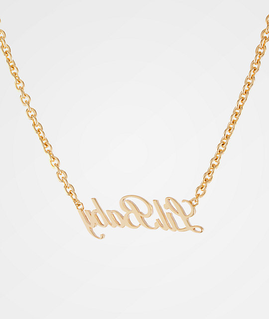King Ice Women's Lil Baby Gold Necklace