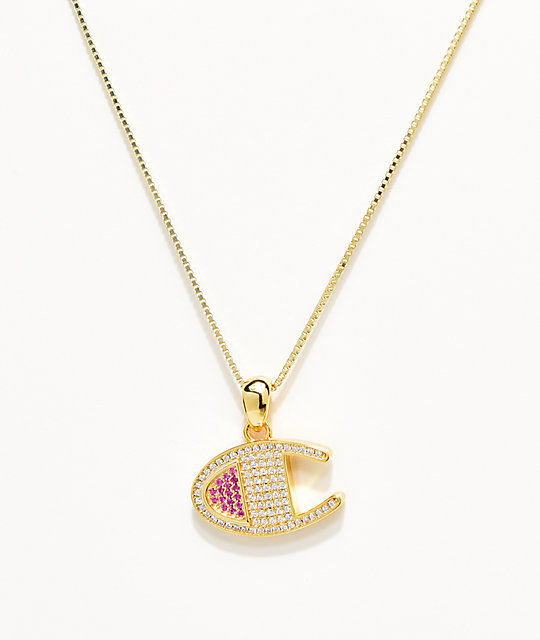 gran descuento aee45 3d198 King Ice x Champion Heritage collar con colgante de oro para mujeres