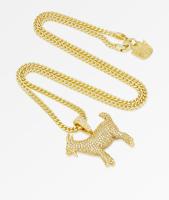 King Ice x Notorious B.I.G. The GOAT collar con colgante de oro