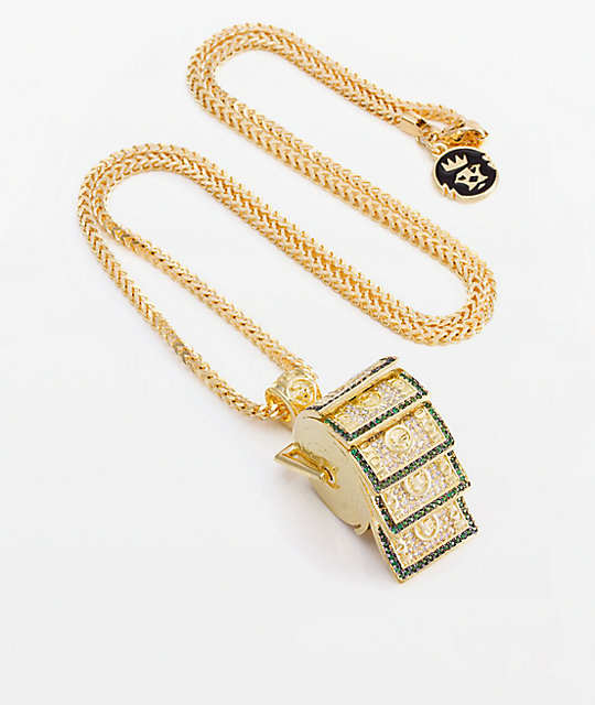 King Ice x Snoop Dogg Money Roll Pendant Necklace