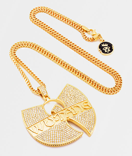 King Ice x Wu-Tang collar con colgante