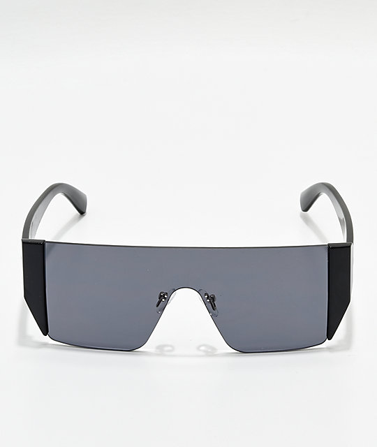 Kipton Black Wrap Sunglasses