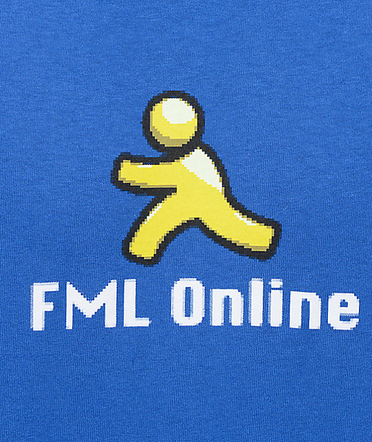 Know Bad Daze FML Online Royal Blue T-Shirt