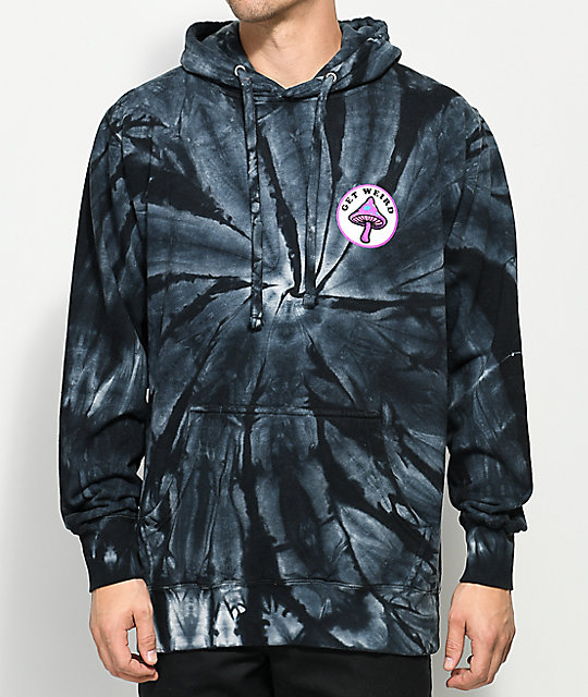 Know Bad Daze Get Weird Black Tie Dye Hoodie