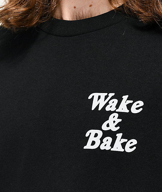 Know Bad Daze Wake & Bake camiseta negra