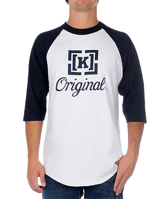 Kr3w Original Blue & White Baseball T-Shirt