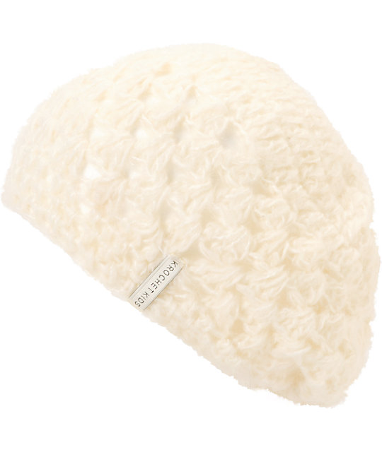 Krochet Kids Bella Cream White Slouchy Beanie
