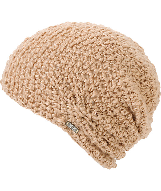 Krochet Kids Lilly Tan Crochet Beanie