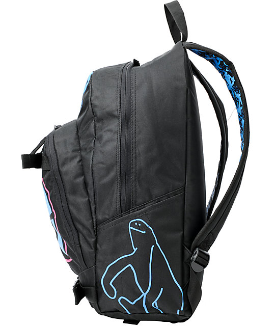 Krooked Eyes Black Skate Backpack