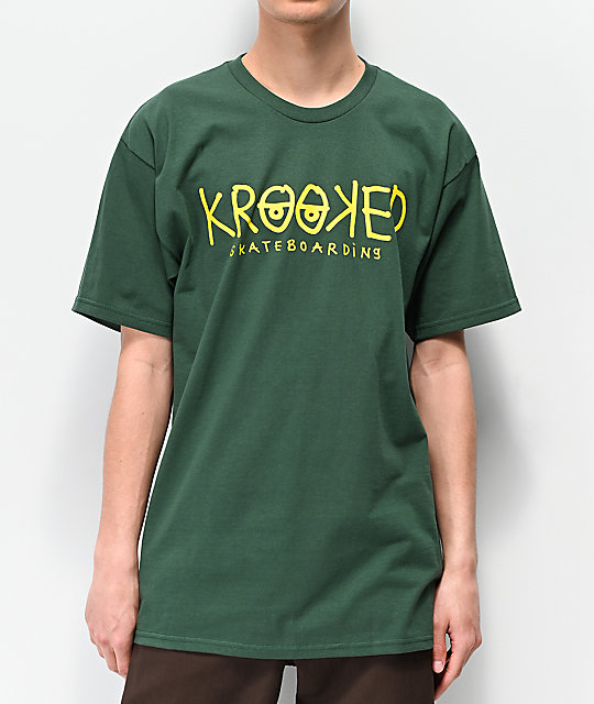 Krooked Eyes Green T-Shirt