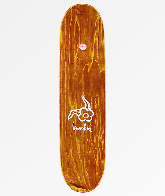 "Krooked Gonz 3 Strypes 8.06"" Embossed Skateboard Deck"