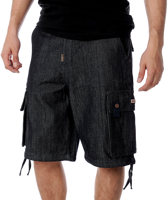 LRG 3rd Strike Raw Wash Denim Shorts