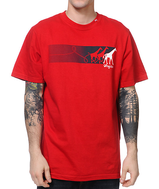 LRG Ahead Of The Pack Red T-Shirt