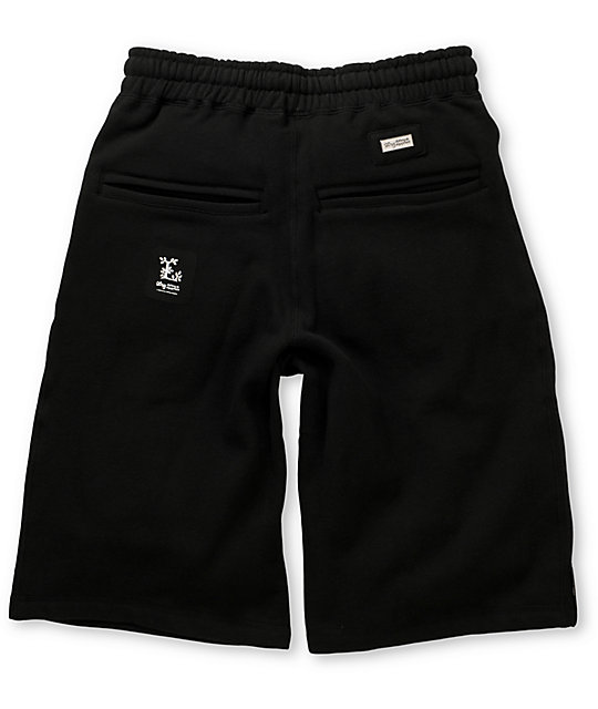 LRG Black Sweat Shorts