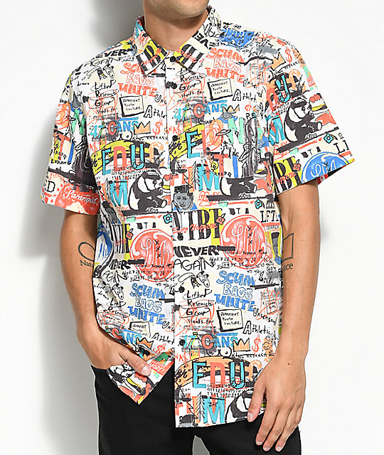 LRG Bosski All Over Printed Short Sleeve Button Up Shirt