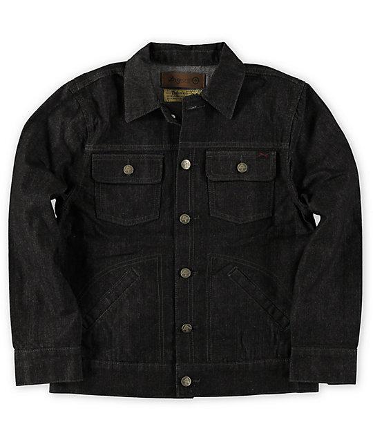 Lrg Boys Cc Black Raw Denim Jacket Zumiez