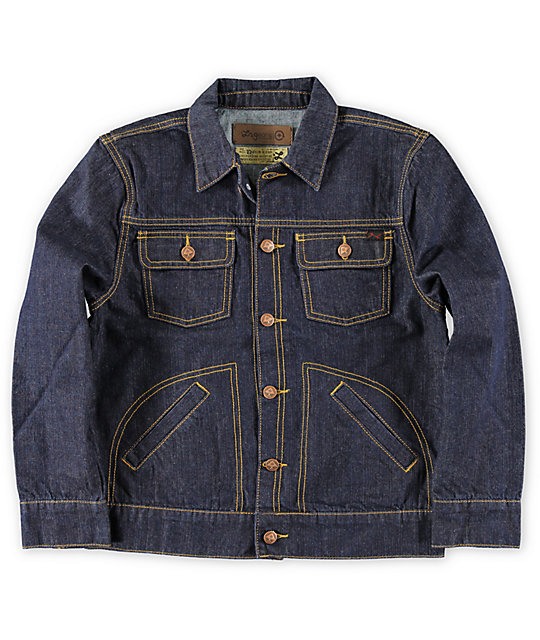 LRG Boys CC Indigo Blue Raw Denim Jacket