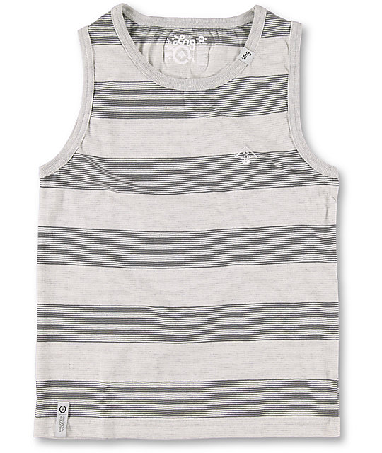 LRG Boys CC Striped Grey Tank Top