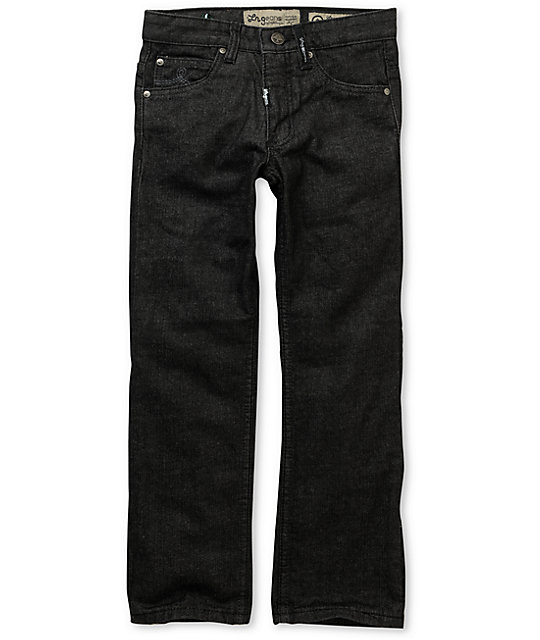 LRG Boys Core Black Raw Straight Leg Jeans