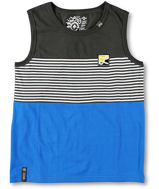 LRG Boys L-R-Group Charcoal Tank Top