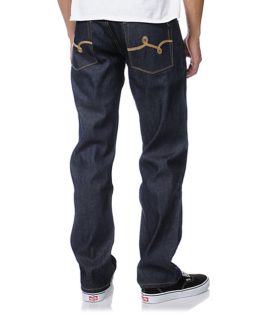 LRG Bushman True Raw Indigo Relaxed Fit Jeans