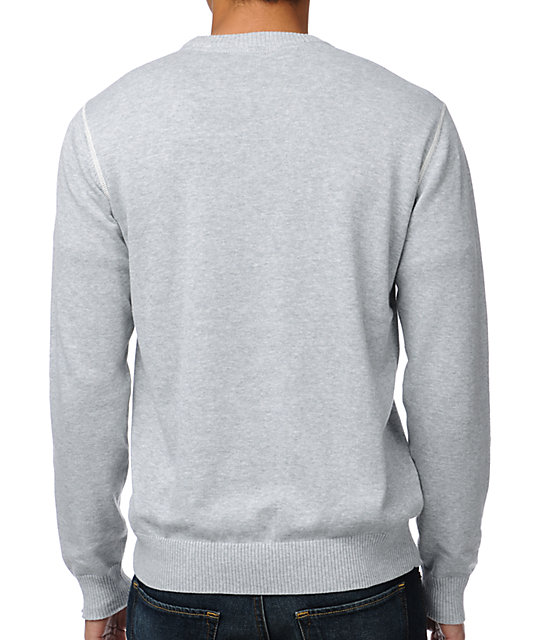 LRG CC Ash Heather Grey Crew Neck Sweater
