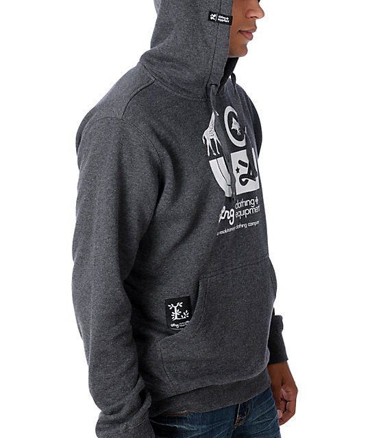 LRG CC Charcoal Grey Pullover Hoodie