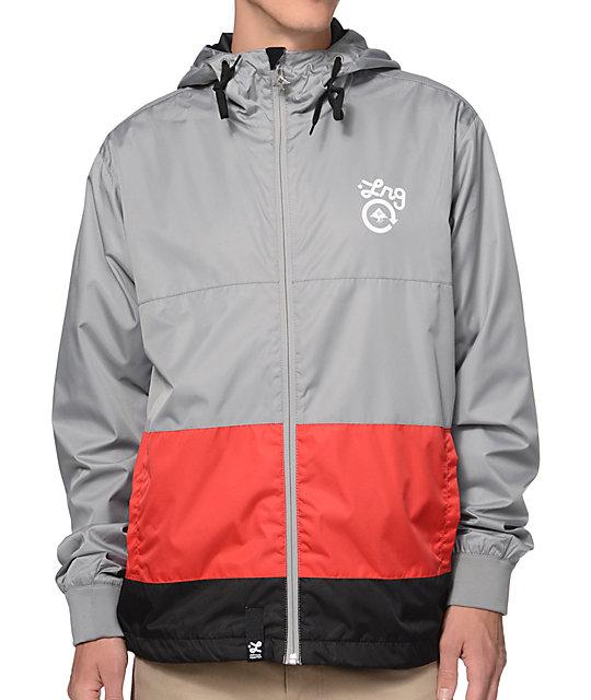 d3bf7dc44 LRG CC Grey Hooded Windbreaker Jacket