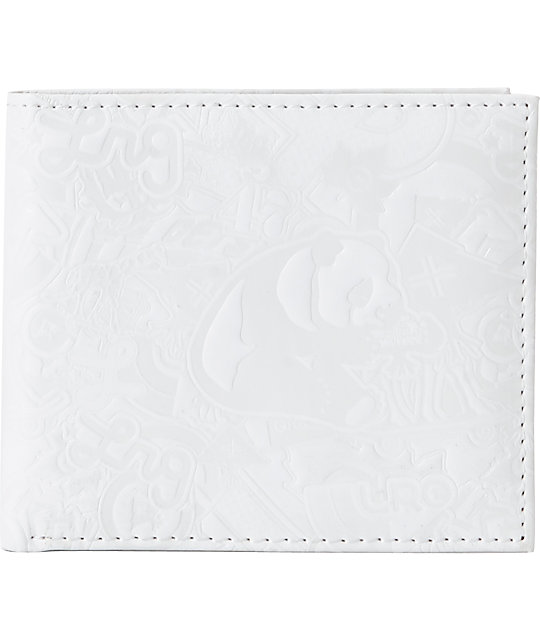 LRG CC Hitched White Bifold Wallet