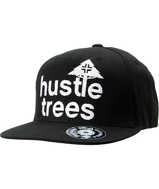 LRG CC Hustle Trees Black Snapback Hat  a5e1c984e07