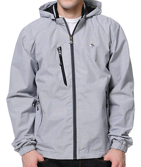 LRG CC Light Grey Windbreaker Jacket