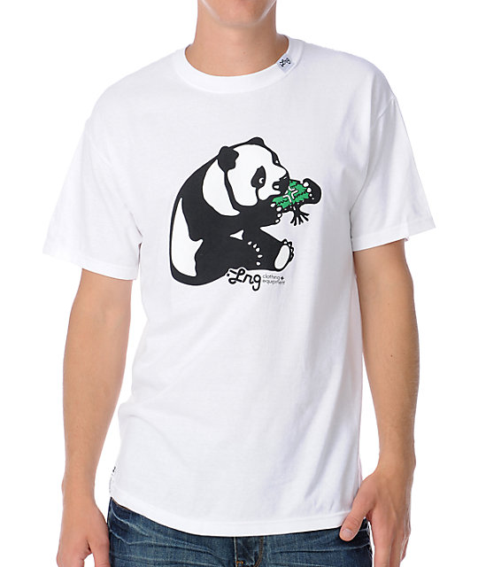 LRG CC Panda Mens White T-Shirt