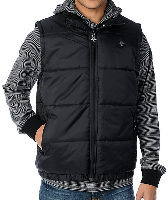 LRG CC Puffy Black Vest