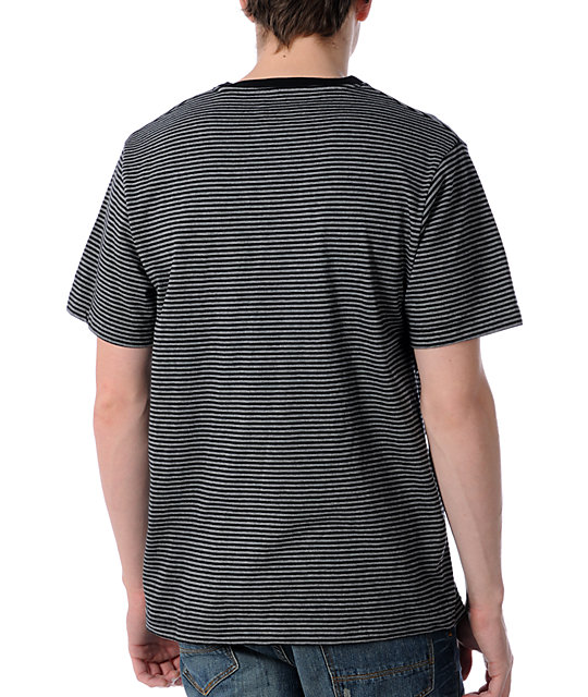 LRG CC Striped Black V-Neck T-Shirt