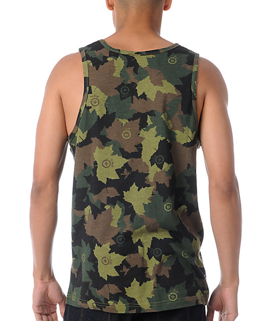 LRG Children of Vision Camo Tank Top