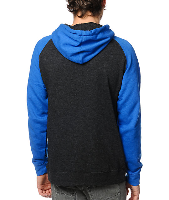LRG Chrome Lion Blue & Black Pullover Hoodie
