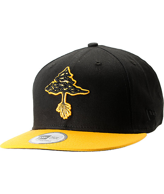 LRG Classic Tree Black & Yellow Snapback Hat