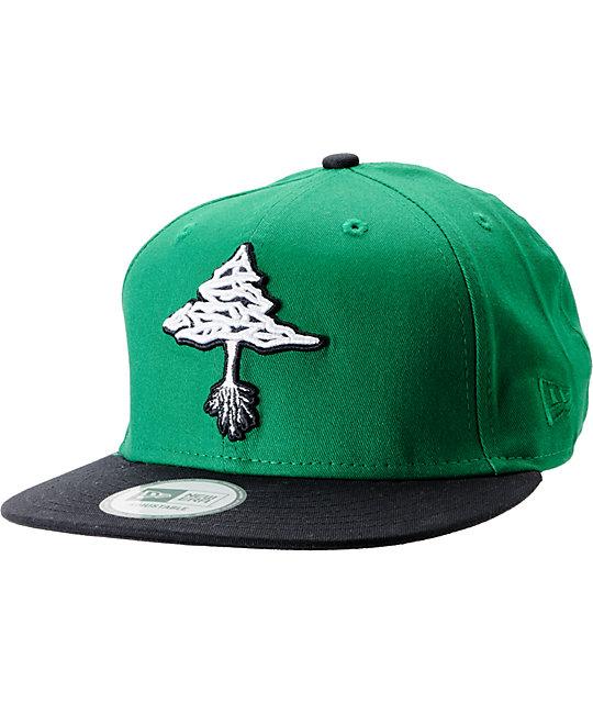 LRG Classic Tree Green   Black New Era Snapback Hat  9818acce39b