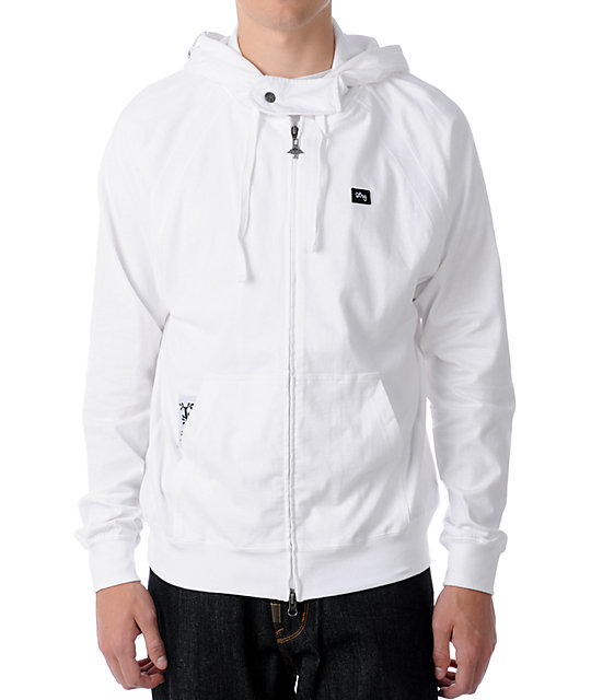 LRG Core Collection Layering White Zip Up Hoodie