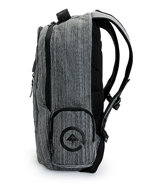 LRG Core Research Heather Charcoal Laptop Backpack