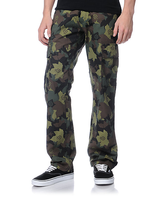 LRG Core Straight Fit Camo Cargo Pants