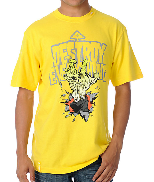 LRG Destroy Everything Yellow T-Shirt