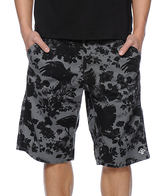 LRG Earth Lessons Charcoal Chino Shorts